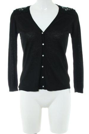 Zara Knit Cardigan schwarz Casual-Look