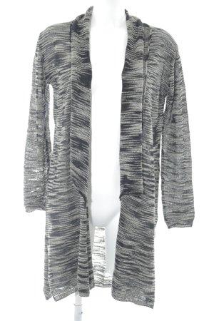Zara Knit Cardigan schwarz-creme meliert Casual-Look