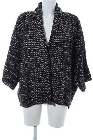 Zara Knit Cardigan schwarz-weiß Casual-Look
