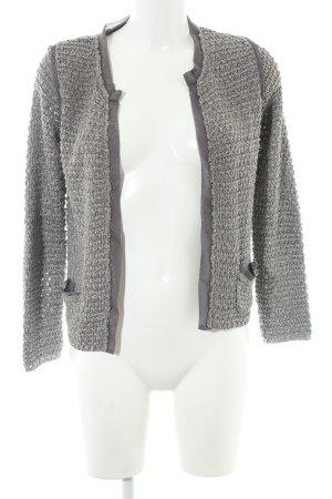 Zara Knit Cardigan silberfarben meliert Casual-Look