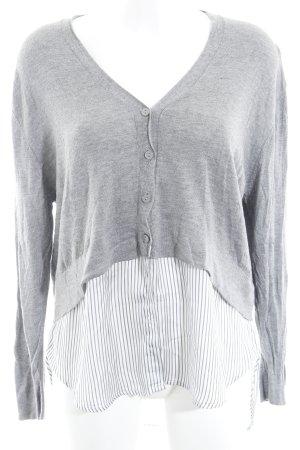 Zara Knit Cardigan Streifenmuster 2in1-Optik