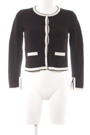 Zara Knit Cardigan weiß-schwarz Elegant