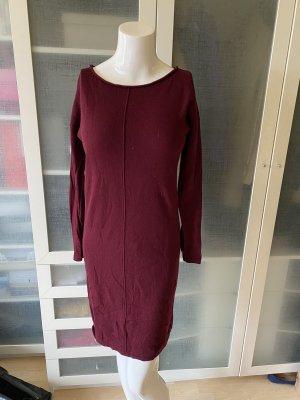Zara Knit Cashmere Woll Kleid Gr M bordeaux