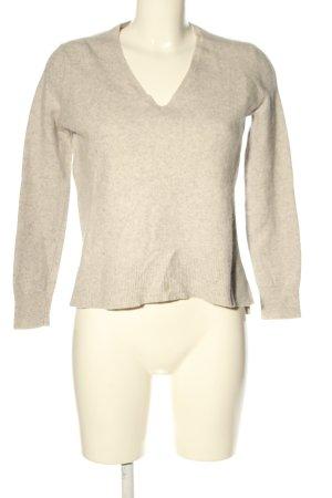 Zara Knit Kaszmirowy sweter w kolorze białej wełny Melanżowy W stylu casual