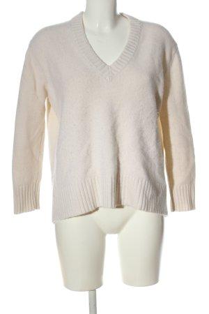 Zara Knit Cashmere Jumper white casual look