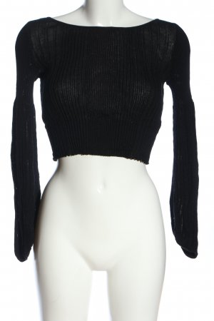 Zara Knit Camicia cropped nero stile casual