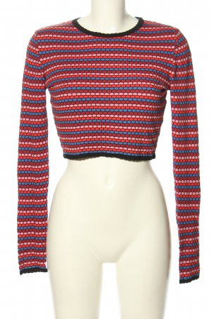 Zara Knit Cropped Shirt Allover-Druck Casual-Look