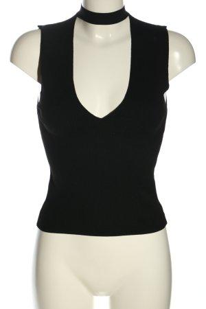 Zara Knit Cropped Top schwarz Casual-Look