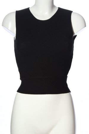 Zara Knit Cut Out Top black casual look