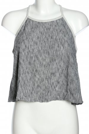 Zara Knit Top cut out gris claro-negro look casual