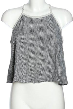 Zara Knit Top cut-out grigio chiaro-nero stile casual