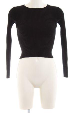 Zara Knit Cut out top zwart casual uitstraling