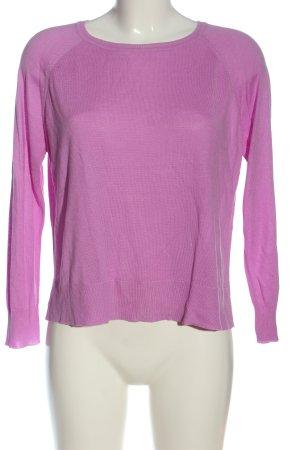 Zara Knit Feinstrickpullover pink Casual-Look