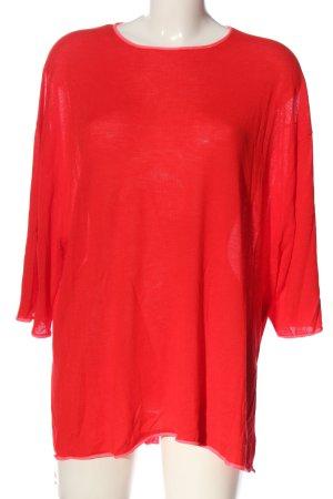 Zara Knit Feinstrickpullover rot Casual-Look