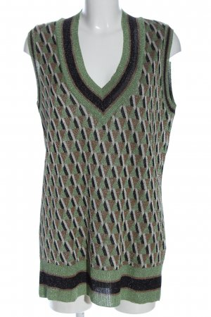 Zara Knit Lange cardigan grafisch patroon casual uitstraling