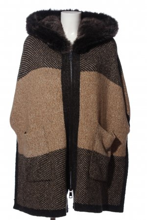 Zara Knit Knitted Coat brown casual look