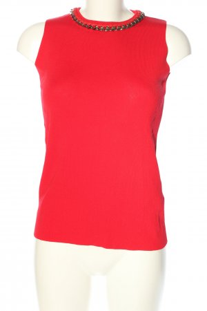 Zara Knit Canotta all'uncinetto rosso stile casual