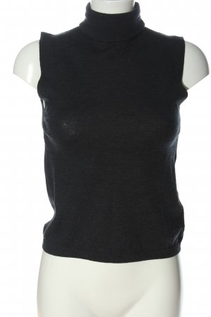 Zara Knit Feinstrickpullunder schwarz Casual-Look