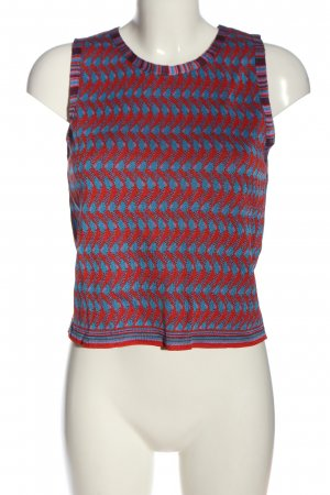 Zara Knit Sweter bez rękawów z cienkiej dzianiny niebieski-czerwony