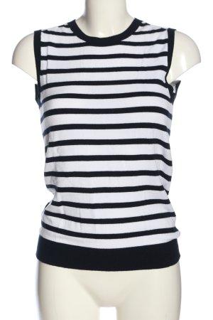 Zara Knit Cárdigan de punto fino negro-blanco estampado a rayas look casual
