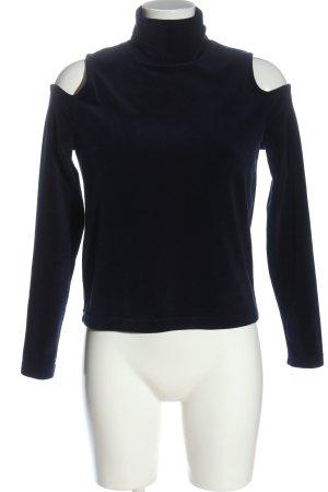 Zara Knit Pull polaire bleu style décontracté