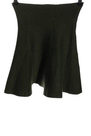 Zara Knit Glockenrock grün Casual-Look