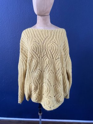 Zara Knit Grobstrick Pullover aus Wolle top