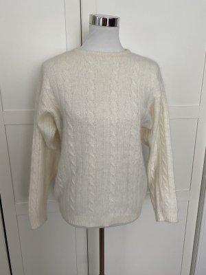 Zara Knit Grobstrick Pullover Gr M mit Angora