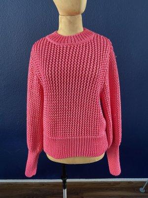 Zara Knit Jersey de punto grueso magenta-rosa neón