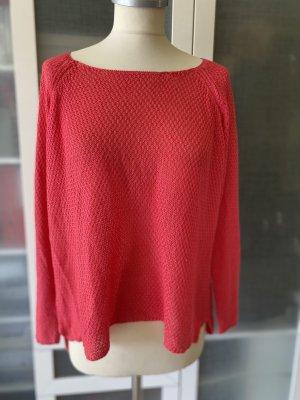 Zara Knit Pullover a maglia grossa rosso lampone