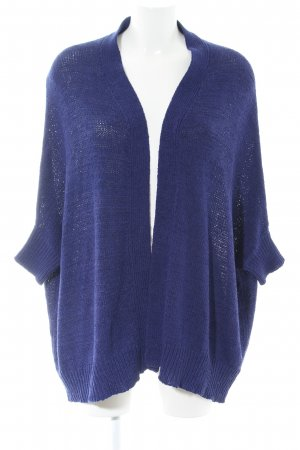 Zara Knit Coarse Knitted Jacket blue casual look