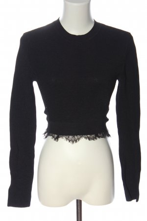 Zara Knit Grobstrickpullover schwarz Casual-Look