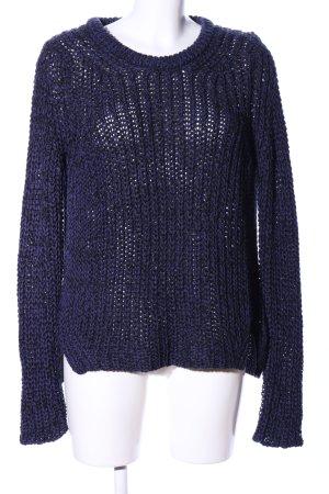 Zara Knit Grobstrickpullover blau Casual-Look
