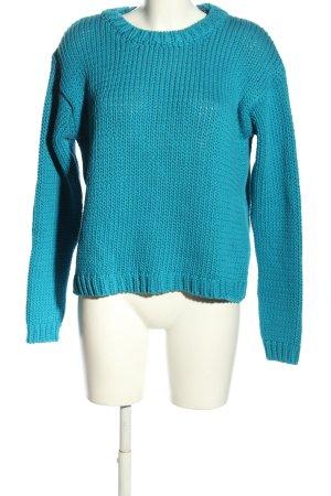 Zara Knit Sweter z grubej dzianiny niebieski W stylu casual