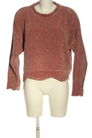 Zara Knit Grobstrickpullover braun meliert Casual-Look
