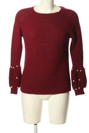 Zara Knit Pull à gosses mailles rouge style décontracté