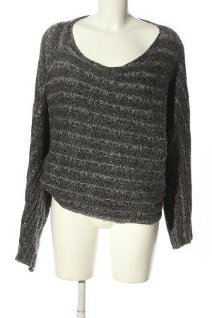 Zara Knit Grof gebreide trui lichtgrijs gestippeld casual uitstraling