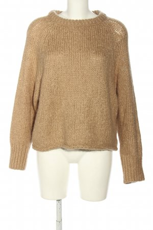 Zara Knit Coarse Knitted Sweater brown casual look