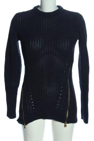 Zara Knit Pullover a maglia grossa blu punto treccia stile casual