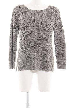 Zara Knit Jersey de punto grueso gris claro punto trenzado look casual