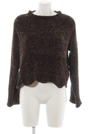 Zara Knit Grobstrickpullover khaki