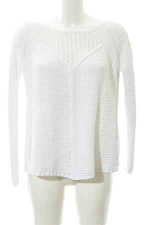 Zara Knit Grobstrickpullover wollweiß Casual-Look