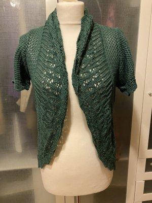 Zara Knit Szydełkowany sweter khaki