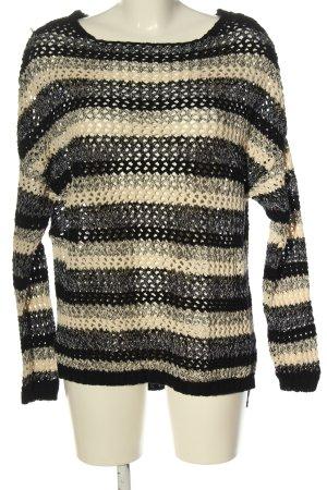 Zara Knit Szydełkowany sweter Wzór w paski W stylu casual