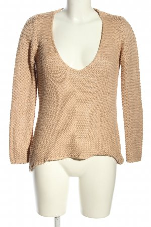 Zara Knit Crochet Sweater cream casual look