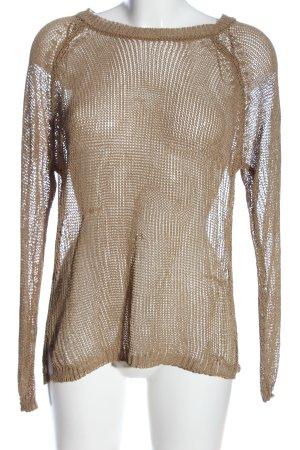 Zara Knit Pull en crochet brun style décontracté