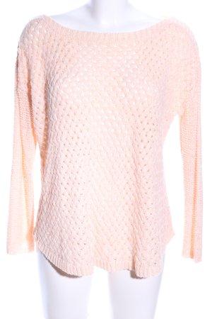 Zara Knit Jersey de ganchillo crema look casual