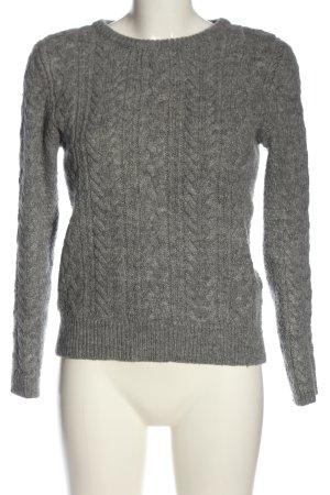 Zara Knit Jersey trenzado gris claro look casual