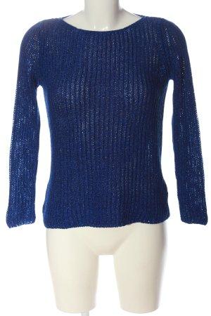 Zara Knit Pull en crochet violet moucheté style décontracté