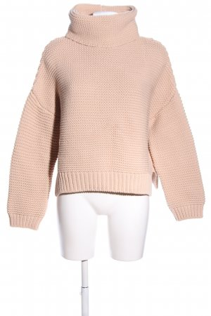 Zara Knit Pull en crochet crème style décontracté